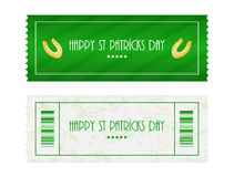 Ticket for St. Patrick's Day Royalty Free Stock Image