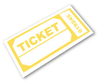 Ticket stub. Admission ticket isolated - room for copyspace - vector Stock Photo