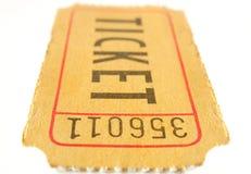 Ticket stub. On white background Royalty Free Stock Photo