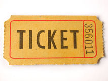Ticket stub. On white background Royalty Free Stock Photography