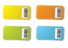 Ticket stub barcode Stock Images