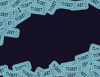 Ticket Stubs. Illustrated background using generic ticket stubs. No two numbers are the same Stock Photo