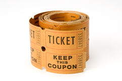 Ticket stubs Stock Photography