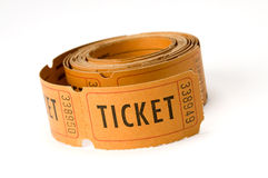 Ticket stubs Royalty Free Stock Photos