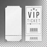 Ticket Template Set Vector. Blank Theater, Cinema, Train, Football Tickets Coupons.  On Transparent Background Stock Photography