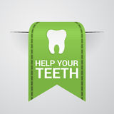 Ticket to help your teeth Royalty Free Stock Image