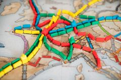 Ticket to ride board game royalty free stock photography