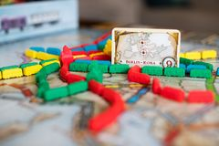 Ticket to ride board game royalty free stock photo
