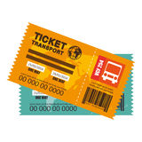 Ticket travel bus icon. Vector illustration design Stock Image