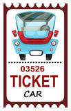 Ticket travel Stock Image