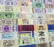 Ticketabschnitte von den verschiedenen Künstlern lizenzfreies stockbild