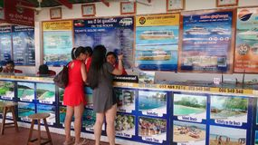 Ticketing Office. At Serendipity Beach Port, Sihanoukville, Cambodia royalty free stock images