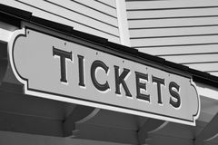 Ticketing sign Royalty Free Stock Images