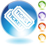 Tickets. An image of a pair of tickets Stock Images