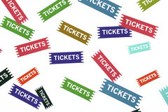 Tickets! stock image