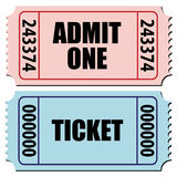 Tickets. Vector illustration of a pair of tickets isolated on white Stock Image