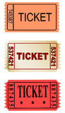 Tickets. Set of color tickets on white background Royalty Free Stock Images