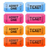 Tickets. Vector illustration of coloured tickets Royalty Free Stock Photo
