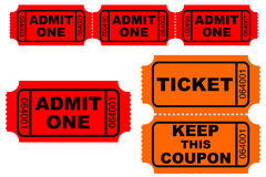 Tickets royalty free stock photo