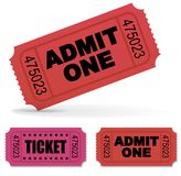 Tickets. Admit one Vector Tickets Set Stock Photo