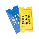 Tickets admit one icon image. Vector illustration design Stock Photos