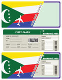 Tickets for air travel Comoros Stock Images