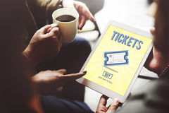 Tickets Buying Payment Event Entertainment Concept.  Stock Photography