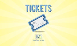 Tickets Buying Payment Event Entertainment Concept Stock Images