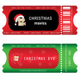 Tickets for Christmas Eve Stock Image