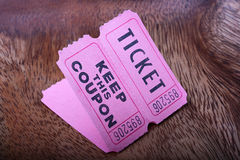 Tickets with the coupons Stock Photos