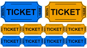 The tickets Royalty Free Stock Photography