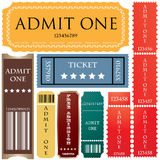 Tickets in different styles Royalty Free Stock Images