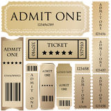 Tickets in different styles. For your shop Royalty Free Stock Image