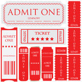 Tickets in different styles. For your business Royalty Free Stock Image