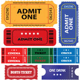 Tickets in different styles Stock Photography