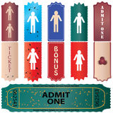 Tickets in different styles Royalty Free Stock Image
