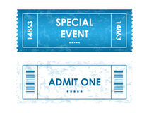 Tickets in different styles. Admit one tickets in different styles for your party Stock Image