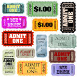 Tickets in different styles template set. EPS 8 Stock Image