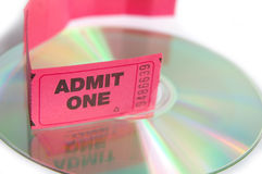 Tickets on disc Stock Photo