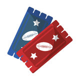 Tickets game american football icon Royalty Free Stock Photo