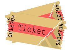 Tickets, illustration Stock Image