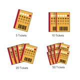 Tickets illustrations in four levels vector illustration