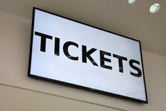 Tickets on a lcd Monitor Stock Photos