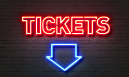 Tickets neon sign Stock Photos