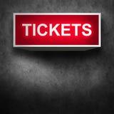 Tickets o fundo das vendas Fotos de Stock Royalty Free