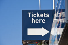 Tickets For Sale Royalty Free Stock Photos