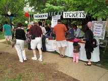 Tickets for Sale at the Fair Stock Photos