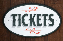 TICKETS (for sale) sign Stock Photo