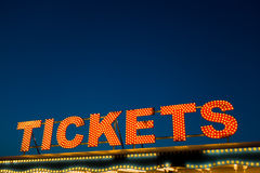 Tickets Sign Royalty Free Stock Photos