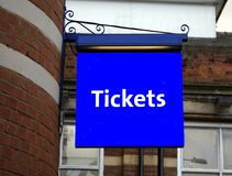 Tickets sign Stock Photos